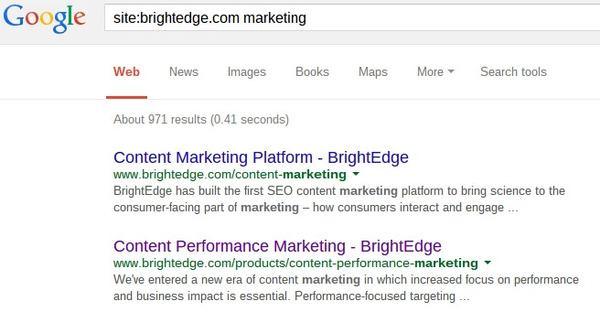 Google Search Operators Site search - brightedge