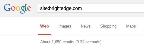Google Search Operators BrightEdge