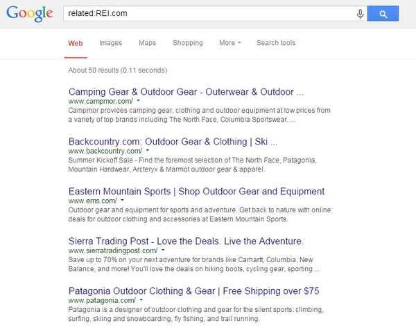 Google Search Operators Related search - brightedge