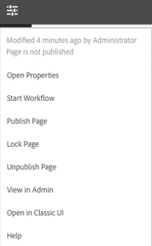 Adone experience manager - Publish Page - brightedge