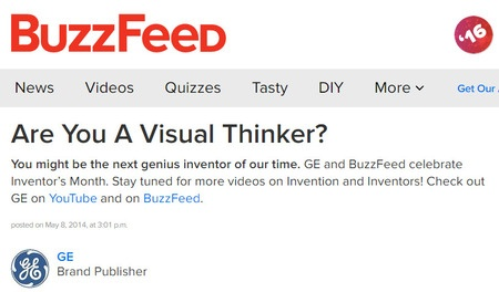 Example of BuzzFeed brand publisher articles best social media websites brightedge