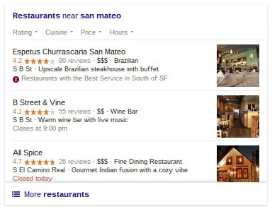 blended rank serp example brightedge