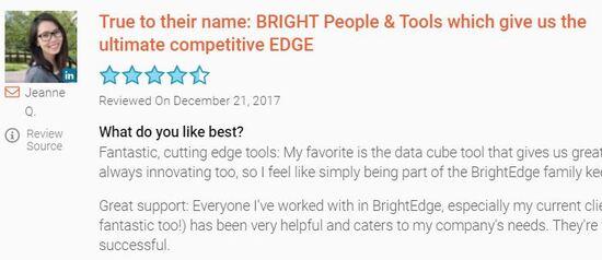brightedge community customer review