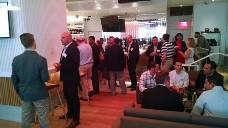 Networking at BrightEdge New York Event