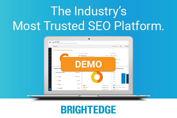 most trusted SEO platform - brightedge helps with page speed