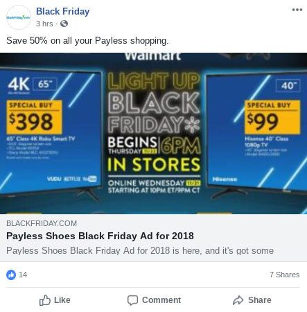 example of holiday seasonal ecommerce marketing strategy on facebook - brightedge