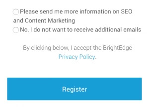 GDPR Web Form Example - brightedge