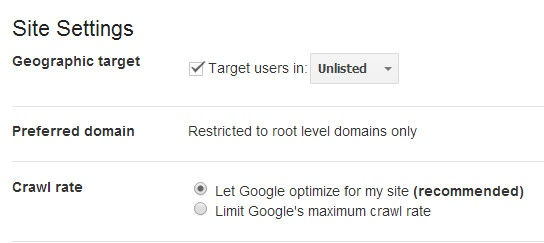 change crawl rate settings in google webmaster tools for seo - brightedge