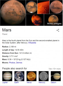 mars I want to know knowledge graph - brightedge