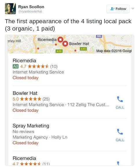Enhance your local search strategy by watching ads in the local pack, BrightEdge