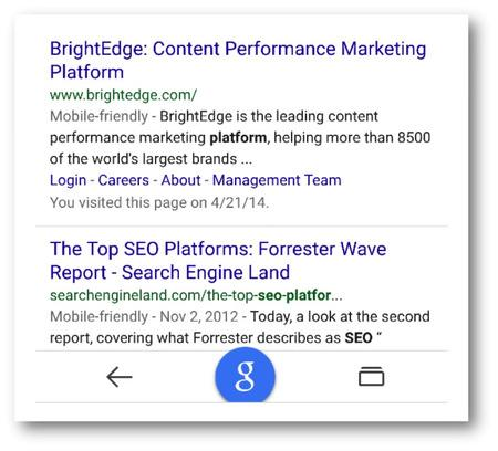 Mobile friendly Results - brightedge