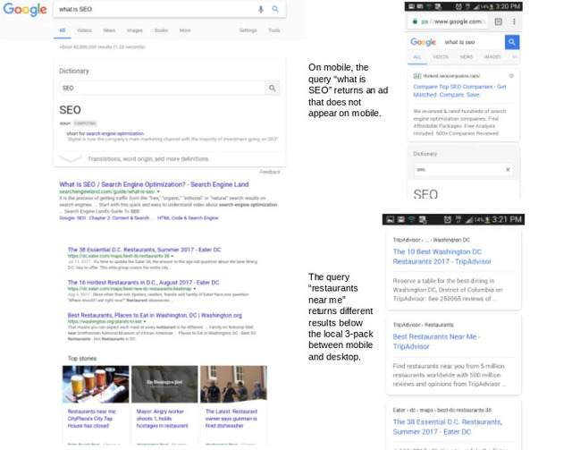 brightedge mobile serp example - what is seo