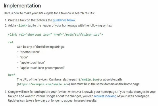Brightedge shows google instructions on adding a favicon to the mobile serp