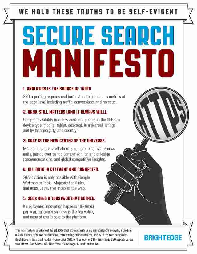 brightedge reveals the secure search manifesto to help guide customers