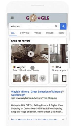 Google's new ad formats include video in showcase ads - brightedge