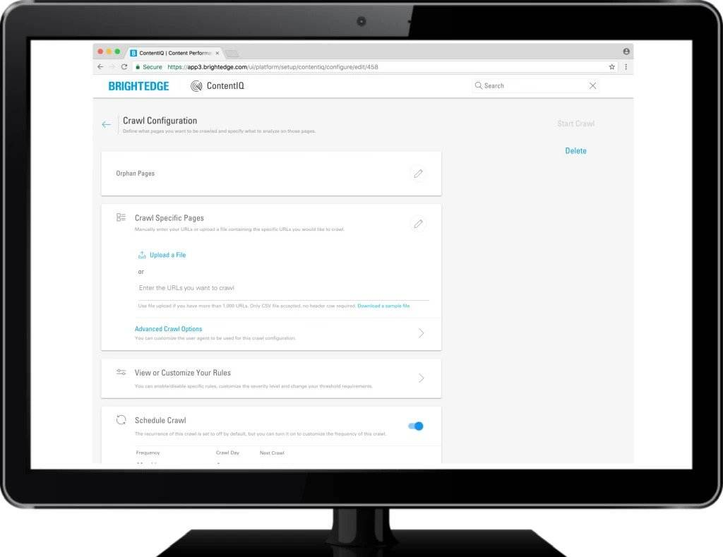Orphan site pages ContentIQ - brightedge