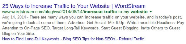 SEO 2016 means some sites have extra meta description characters - brightege