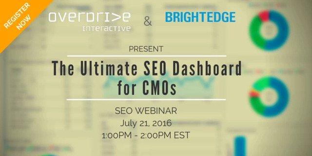 SEO Dashboard webinar - brightedge