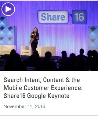 Listen to the Google keynote in the Share16 videos