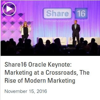 Listen to the keynote Oracle talk in the Share16 videos