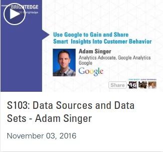 Listen to Adam SInger of Google in Share16 videos