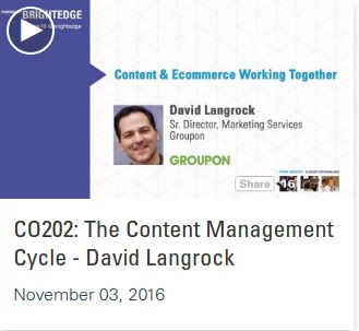 Listen to David Langrock in the Share16 videos