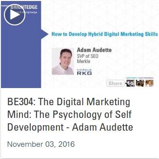 Listen to Adam Audette in the Share16 videos