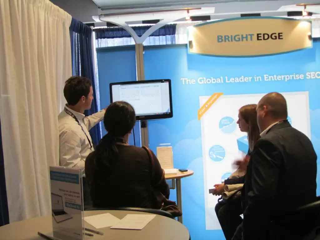 brightedge booth at smx
