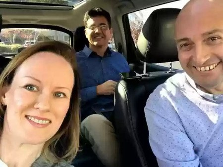 Titans of SEO running a webinar from a minivan - BrightEdge