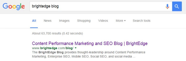 see the google serp example of title tag seo on BrightEdge blog listing