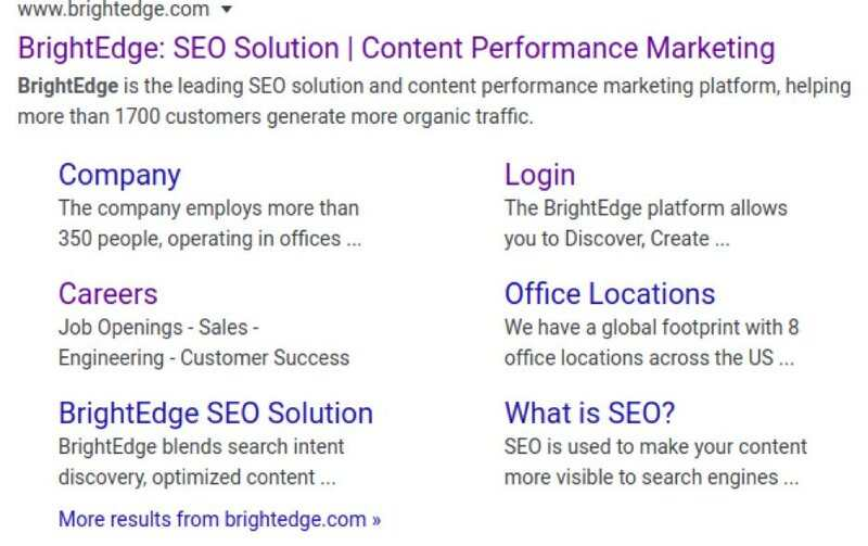 Here you will learn the importance of sitelinks - brightedge