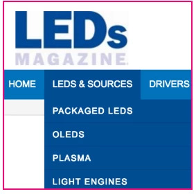 LEDs Magazine example of a UX strategy and taxonomy classification - brightedge