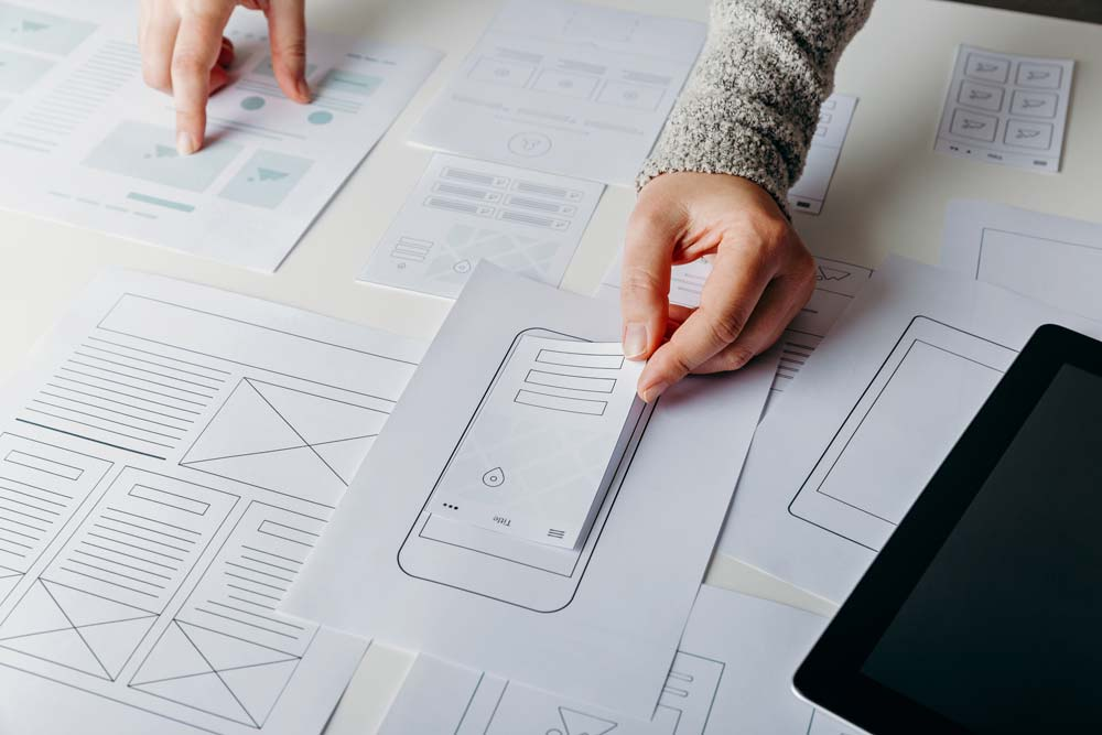 layout for a mobile web page template