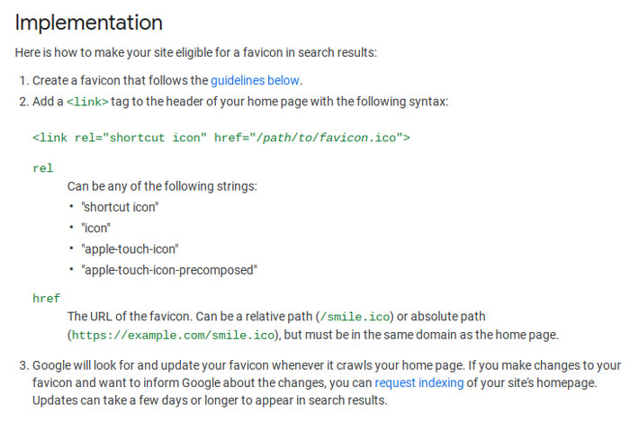 Google explains how to add a favicon