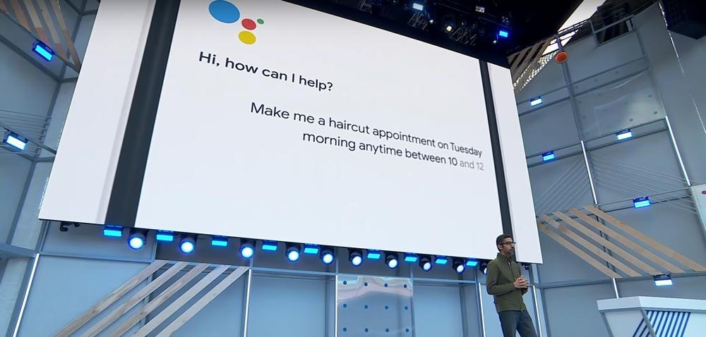 google io sundar pichai presenting google assistant