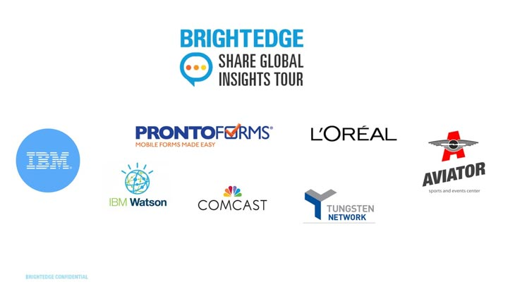 share global insights tour attendee logos splash image