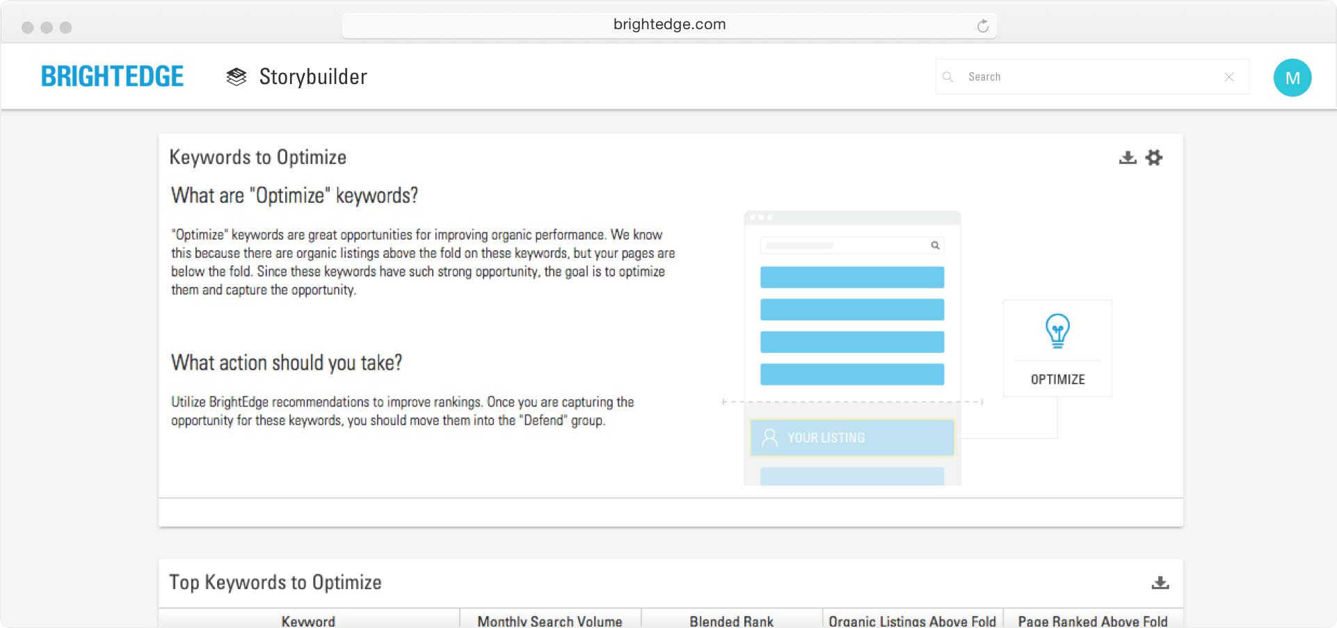 screenshot of storybuilder introductory screen
