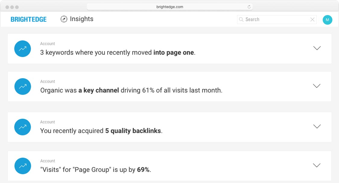 brightedge insights list of seo wins