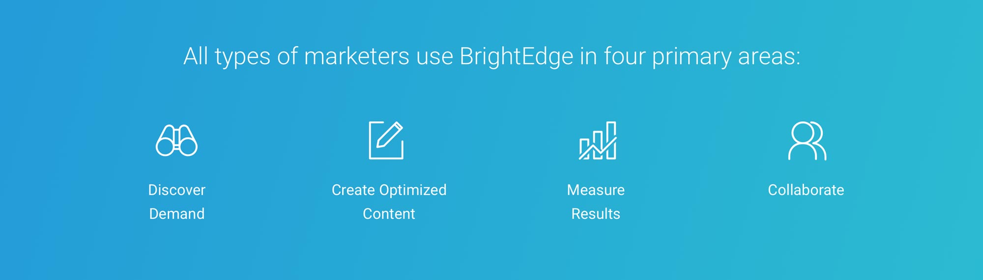 BrightEdge 4 pillars of SEO management