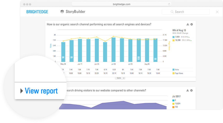 storybuilder dashboards view report closeup